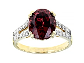 Pink Blush Color Zircon 14k Yellow Gold Ring 4.71ctw