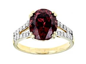 Pink Blush Color Zircon 14k Yellow Gold Ring 4.71ctw