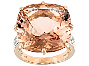 Pink Cor-De-Rosa Morganite™ 14k Rose Gold Ring 23.77ctw
