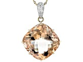 Pink Cor-De-Rosa Morganite™ 14k Rose Gold Pendant With Chain 24.74ctw