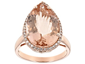 Peach Morganite 14k Rose Gold Ring. 7.17ctw