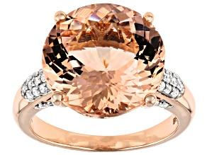 Pink Cor-De-Rosa Morganite™ 14k Rose Gold Ring 8.69ctw