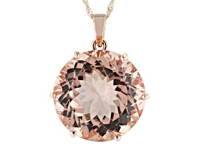 Pink Cor-De-Rosa Morganite™ 14k Rose Gold Pendant With Chain