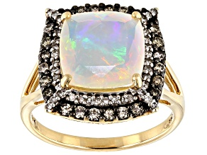 Ethiopian Opal 14K Yellow Gold Ring 2.12ctw