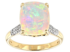 Ethiopian Opal 14K Yellow Gold Ring 2.52ctw