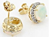 Ethiopian Opal 14K Yellow Gold Earrings 2.08ctw