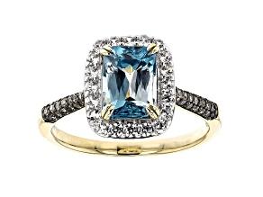 Blue Zircon 14k Yellow Gold Ring 2.58ctw