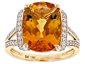 Golden Citrine 14k Yellow Gold Ring 6.28ctw