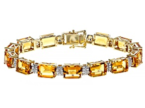 Golden Citrine 14k Gold Bracelet 30.47ctw