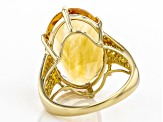 Golden Citrine 14k Yellow Gold Ring 10.89ctw
