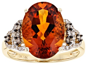 Orange Madeira Citrine 14k Yellow Gold Ring 4.51ctw