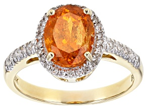 Orange Spessartite Garnet 14k Yellow Gold Ring 2.45ctw