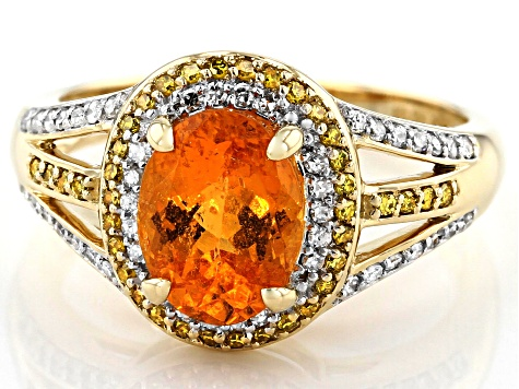 Orange Spessartite 14k Yellow Gold Ring 2.58ctw