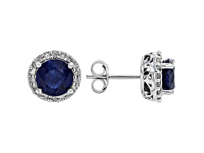 Blue Kyanite Rhodium Over 14k White Gold Earrings 3.05ctw