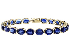 Blue Kyanite 14k Gold Tennis Bracelet. 27.71ctw