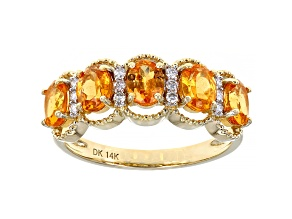 Orange Spessartite Garnet 14k Yellow Gold Ring 1.80ctw