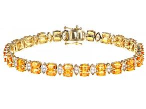 Orange Spessartite 14k Yellow Gold Bracelet 14.03ctw