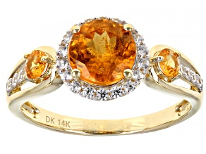Orange Spessartite 14k Yellow Gold Ring 2.10ctw