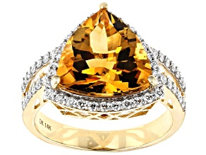 Golden Citrine 14k Yellow Gold Ring 3.72ctw