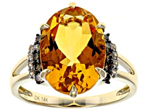 Golden Citrine 14k Yellow Gold Ring 5.25ctw