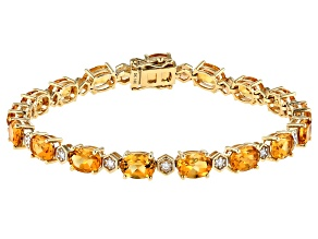 Golden Citrine 14k Yellow Gold Bracelet 11.78ctw