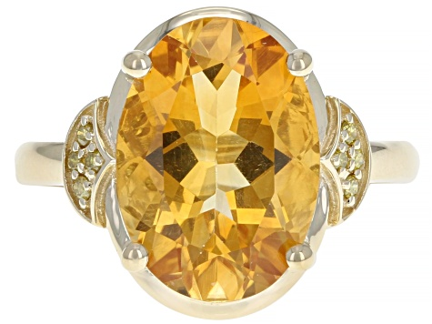 Golden Citrine 14k Yellow Gold Ring 5.06ctw