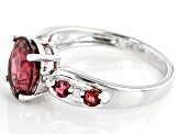Pink Tourmaline Rhodium Over 14k White Gold Ring 1.66ctw