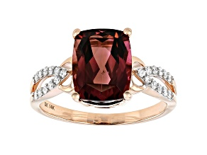 Pink Tourmaline 14k Rose Gold Ring 2.60ctw