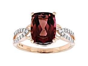 Pink Tourmaline 14k Rose Gold Ring 2.60ctw