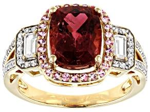 Pink Tourmaline 14k Yellow Gold Ring 3.59ctw