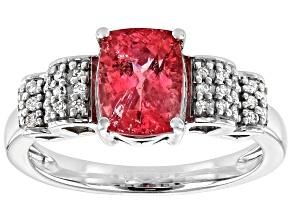 Pink Tourmaline Rhodium Over 14k White Gold Ring 1.57ctw
