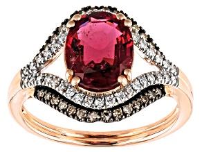 Pink Tourmaline 14k Rose Gold Ring 2.21ctw