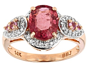 Pink Tourmaline 14k Rose Gold Ring 1.75ctw