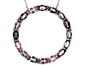Mixed-Color Spinel 14k Rose Gold Necklace 4.22ctw