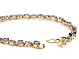 Mixed-Color Spinel 14k Yellow Gold Bracelet 8.26ctw