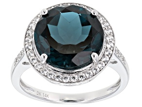 London Blue Topaz Rhodium Over 14k White Gold Ring 7.52ctw