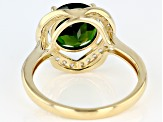 Green Russian Chrome Diopside 14k Yellow Gold Ring 2.77ctw