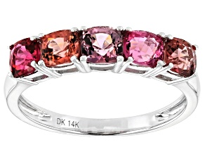 Mixed-Color Burma Spinel Rhodium Over 14k White Gold Ring 1.83ctw