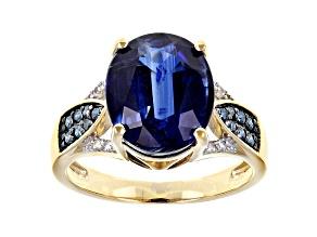Blue Kyanite 14k Yellow Gold Ring 6.40ctw