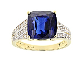 Blue Kyanite 14k Yellow Gold Ring 6.30ctw