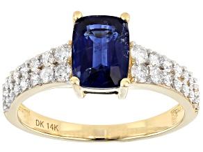 Blue Kyanite 14k Yellow Gold Ring 2.06ctw