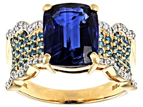 Blue Kyanite 14k Yellow Gold Ring 4.51ctw