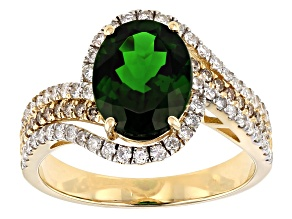 Green Russian Chrome Diopside 14k Yellow Gold Ring 2.61ctw