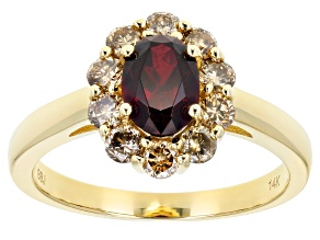 Red Anthill Garnet 14k Yellow Gold Ring 1.47ctw