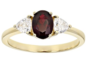 Red Anthill Garnet 14k Yellow Gold Ring 1.30ctw