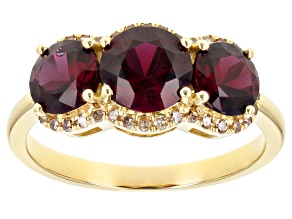 Red Anthill Garnet 14k Yellow Gold Ring 2.47ctw