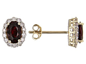 Red Anthill Garnet 14k Yellow Gold Earrings 1.22ctw