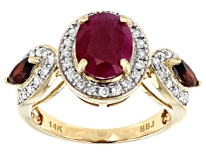 Red Ruby 14k Yellow Gold Ring 2.61ctw