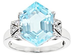Sky Blue Topaz Rhodium Over 14k White Gold Ring 6.19ctw