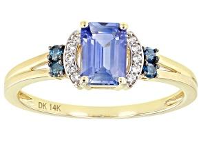 Blue Ceylon Sapphire 14k Yellow Gold Ring 1.13ctw